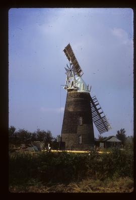 Tower mill, Over, restored with two sails