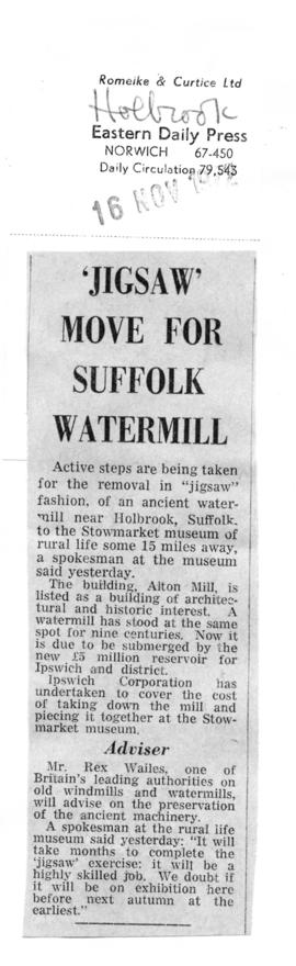 """'Jigsaw' move for Suffolk watermill"""