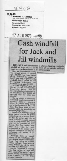 """Cash windfall for Jack and Jill windmills"""