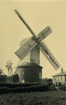 Post mill, Friston, Suffolk, in working order