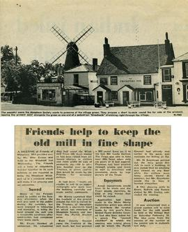 """Friends help to keep the old mill in fine shape"""