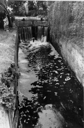 Watermill, Baylham, showing leat