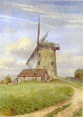 Early illustration of Heage windmill with four sails