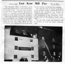 East Kent Mill Fire