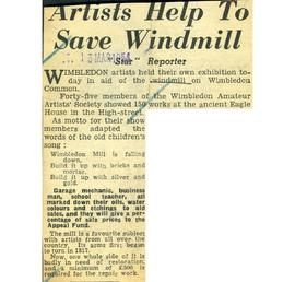 """Artists help to save windmill"""