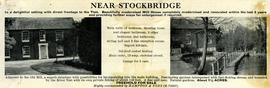 """Sale Notice of a mill house near Stockbridge, Hants"""