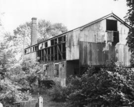 Iron Bloomery, Ightham, derelict, with wheel just visible