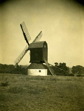 View from field, post mill, Stevington
