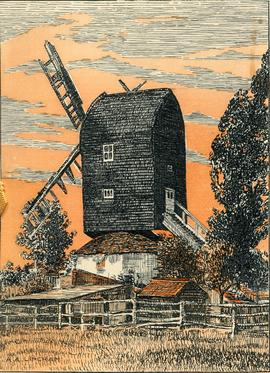 """The Old Windmill"" birthday card"