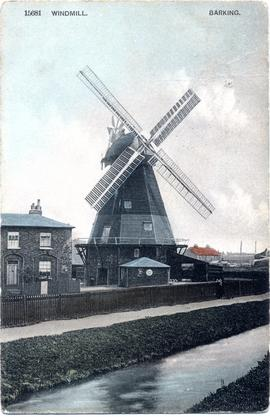 Postcard of Barking Windmill