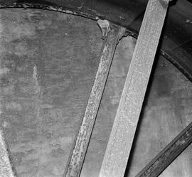 Detail view showing interior portion of the mill wheel, Upwey Mill, Upwey