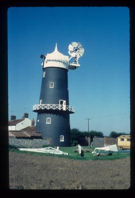 Tower mill, Great Bircham, restored complete except for sails