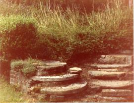 Millstones as steps, Maplehurst Mill, Frittenden