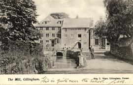 Downstream view, Town Mills, Gillingham