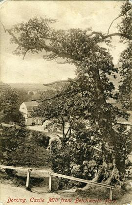 Dorking, Castle Mill from Betchworth Park