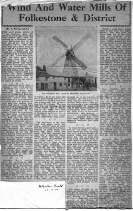 General article on Folksone mills