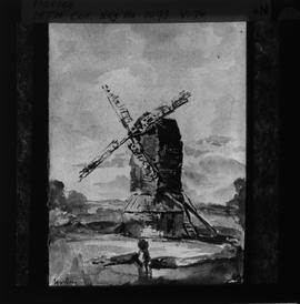 Photograph of painting, post mill, Horley