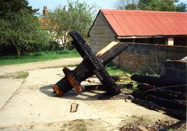 Burnt Spur Wheel and Wallower, watermill, Great Bardfield