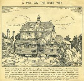 """A mill on the River Wey"""
