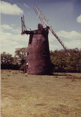 View from field, tower mill, Barnham
