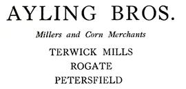 Ayling Bros, millers and corn merchants
