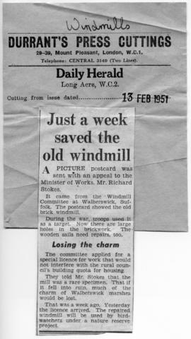 """Just a week to save the old windmill"""
