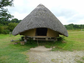 Reconstructed Iron Age granary at Castell Henllys, Dyfed