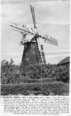 """A 350-year-old windmill which is still grinding corn in Essex"""