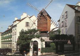 Postcard of Moulin Radet, Montmartre, France