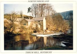 View from across the river, Thrum Mill, Rothbury