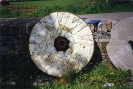 Photograph of a burrstone, Elphin watermill, Roscommon, Ireland