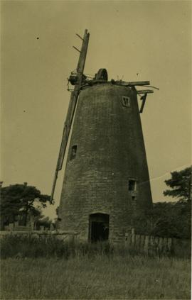Tower mill, East Wretham, derelict