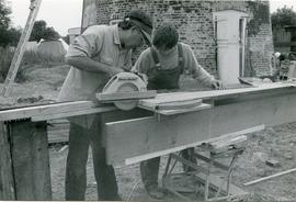 Cutting Finger Joints, tower mill, Thelnetham