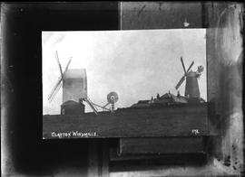"Post mill ""Jill"" apparently disused with sail frames, tower mill ""Jack"" in w/o"
