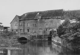 Downstream view, Old Mill, Corfe Mullen, Wimborne