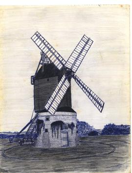 Freehand sketch of Lower Dean mill