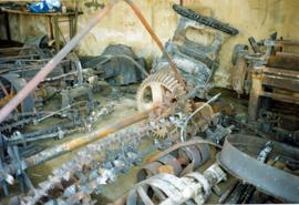 Salvaged equipment, watermill, Great Bardfield