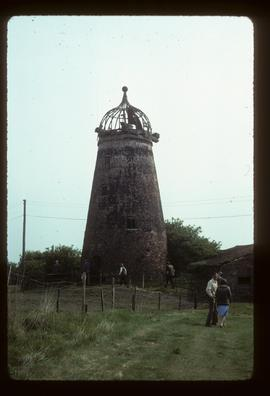 Longbottom's Mill, Everton, derelict, with cap roof framing (windshaft gone)