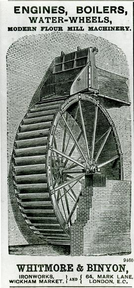 Whitmore and Binyon Advertisement Waterwheel