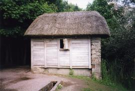 Photograph of a horizontal watermill, Bunratty Folk Park, Clare, Ireland
