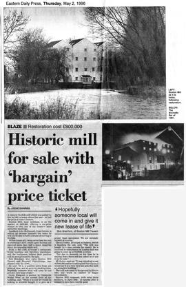 """Historic mill for sale with 'bargain' price ticket"""