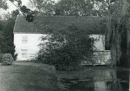 Watermill, Wixoe, surrounded by trees