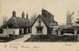 Postcard of John Webb's Mill and Old Almshouses