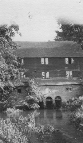 View from downstream, watermill, Shalford