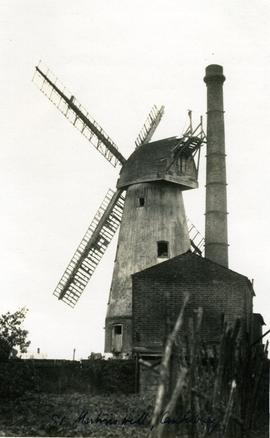 St Martin's Mill, Canterbury, derelict, and chimney