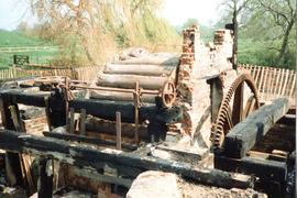 Remnants of waterwheel, watermill, Great Bardfield