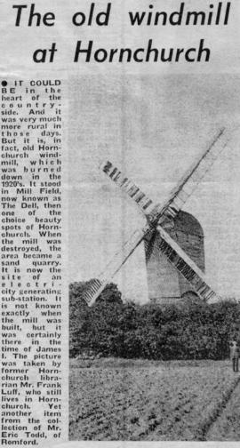 """The old windmill at Hornchurch"""