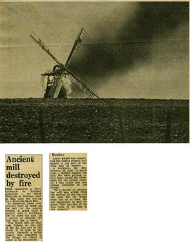 """Ancient mill destroyed by fire"""