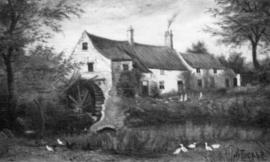 Copy of a 1906 painting of the mill