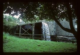 Exterior of stone watermill building